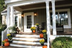 grey house front outdoor decor - Google Search