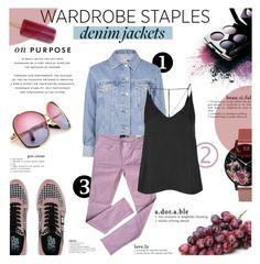 Wardrobe Staple: Denim Jackets by milica1940 on Polyvore featuring polyvore fashion style Topshop Kate Spade Karl Lagerfeld Olivia Burton Avon clothing denimjackets WardrobeStaples