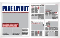 newspaper page layout design