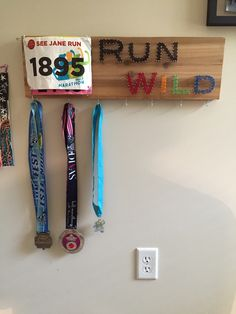 A personal favorite from my Etsy shop https://www.etsy.com/listing/291246845/marathon-runners-bib-and-medal-string