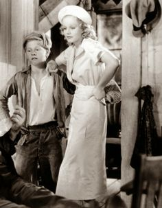 "Mickey Rooney and Jean Harlow in ""Riff-Raff"", 1935 one of my all time favorite movies!"