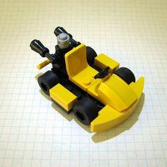 Go-Kart and Bumper Car by Repoort Robot Lego, Lego Cars, Rc Cars, Lego Super Mario, Legos, Deco Lego, Technique Lego, Casa Lego, Construction Lego