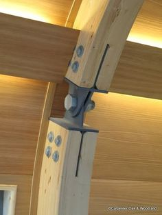 Timber Frame Metal Plates | Timber Engineering joints – Joints – Oak frame detail – Image ... #anclaje