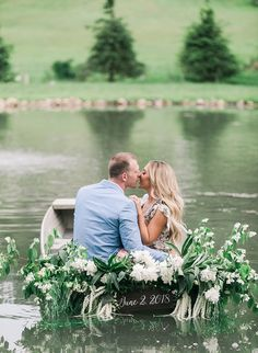 Dockside Engagement Photos Straight Out of The Notebook - Inspired By This Engagement Announcement Photos, Boat Wedding, Funny Slogans, Wedding Photography Poses, Engagement Shoots, Happily Ever After, How To Look Pretty, Wedding Inspiration, Notebook