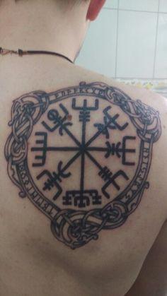 Vegvisir by drisanas tattoo Vegvisir, nordic, viking , knot