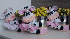 termoativo e anti frizz planta Tin Can Crafts, Dyi Crafts, Felt Crafts, Cow Birthday Parties, Farm Birthday Cakes, Cow Baby Showers, Kitchen Hot Pads, Cow Ornaments, Cow Kitchen