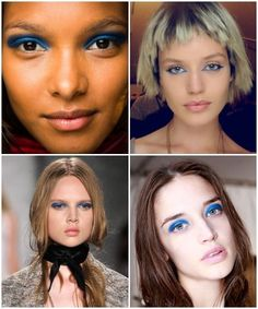Blue lids: a spring trend to look out for! #beauty #makeup