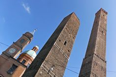 """The two towers of Bologna - """"A birds eye view of Bologna!"""" by @Kathryn Whiteside Burrington"""