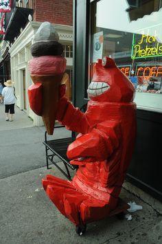 Bar Harbor Maine...yep this place serves lobster ice cream!