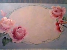 How to Paint Roses ~ Marjorie Harris shares her freehanding method of painting roses. Marjorie uses decorative painting methods and her fine art training to quickly paint roses.