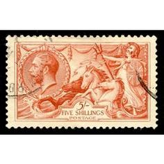 Sea Horse 1913 - 1918: 5s Red SG 416 for R1,000.00