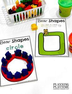 Making Bear Shapes: Great FINE MOTOR Activity!! - Morning Tubs: Bears