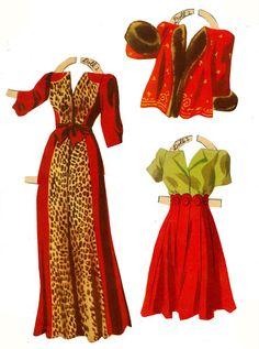 1940s Rita Hayworth Paper Doll Clothes
