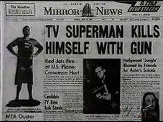 Death of Superman George Reeves Death Of Superman, Supergirl Superman, Superman Stuff, George Reeves, Famous Murders, Adventures Of Superman, New Berlin, Silent Film Stars