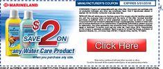 Save $1 on any Marineland Water Care Product #Marineland #fishfood #coupon #aquaticsavings http://shout.lt/v1Wz