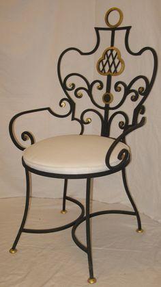 img-original-11583-fauteuil-dans-style-gilbert-poillerat-fer-forge-fer-forge-peint-noir-avec-dorure-assise-neuf