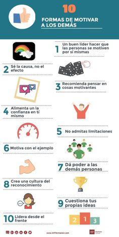 10 formas de motivar a los demás #infografia