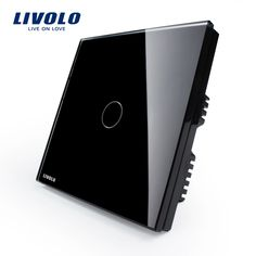 Livolo, Touch Switch, Black Pearl Crystal Glass Panel Switch, Wall Switch, UK standard, Digital Touch Light Switch VL-C301-62