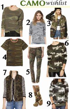 #Camo Wishlist | Luci's Morsels #fallfashion #fashion I want number 5