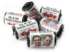 Wedding Favours - Love Heart Sweets with Colour Foil choices - - Mr & Mr Wedding Favours Love Hearts, Wedding Favour Sweets, Wedding Favors, Love Heart Sweets, Mint Sweets, One Design, Choices, 5 Years, Special Day