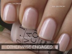 Otherwise Engaged - OPI, very natural and easy