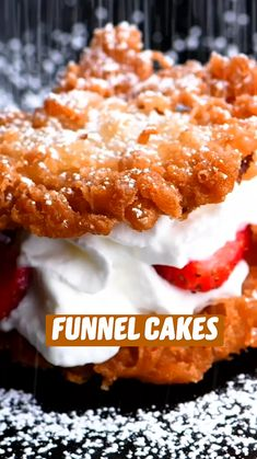 Fun Desserts, Delicious Desserts, Dessert Recipes, Yummy Food, Tasty, Fun Baking Recipes, Sweet Recipes, Cookie Recipes, Mini Funnel Cakes