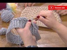 Las mujeres saben con Ezgi Sertel, boina tejida a ganchillo de Sibel Kavaklıoğlu Crochet Hooded Scarf, Crochet Beret, Crochet Yarn, Easy Crochet, Knitted Hats, Knitting Videos, Crochet Videos, Easy Stitch, Crochet Fashion