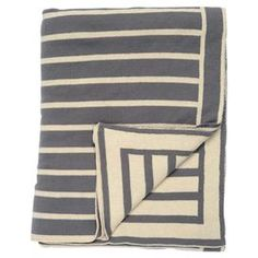 """Wrap yourself in sumptuous comfort with this beautifully crafted throw, perfect for picnics in the park and cozy weeknights at home.   Product: ThrowConstruction Material: 100% Cotton Color: Grey and naturalDimensions: 50"""" x 60""""Cleaning and Care: Machine washable"""