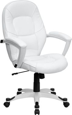 10 Best White Leather Office Chair Images Leather Office Chair Office Chair White Leather Office Chair