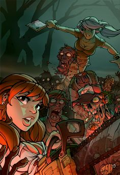 Zombies n' Babes by *blitzcadet on deviantART #zombie