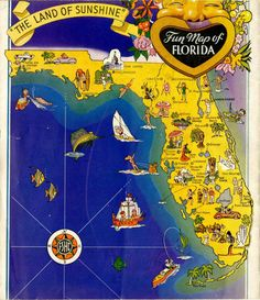 Fresh Slices of Old Florida: Photo Old Florida, Vintage Florida, Florida Maps, Pinup, Visual Resume, Great American Road Trip, Turquoise Water, Sunshine State, Retro