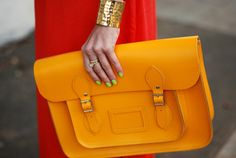 amazing neon orange satchel