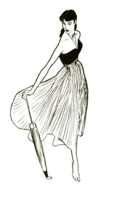 Ensemble Mad Carpentier, illustration Rene Gruau, 1948