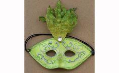 Fancy Mask Green Ornament