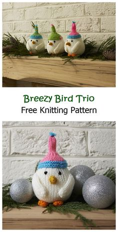 Breezy Bird Trio Free Knitting Pattern – Knitting Projects