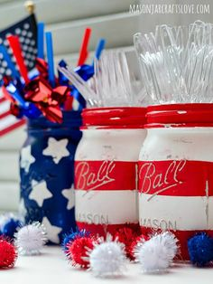 Mason Jar Crafts 4th of July