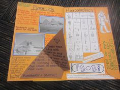 Here's a terrific post with lots of ideas for an Ancient Egypt foldable book.