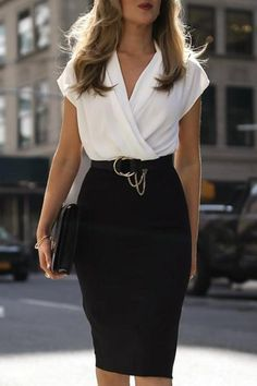 Nice 46 Fashionable Work Outfit Ideas To Look Cool Summer Work Outfits, Casual Work Outfits, Business Casual Outfits, Business Dresses, Work Attire, Mode Outfits, Classy Outfits, Fashion Outfits, Sexy Business Attire