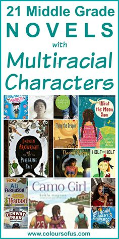 This list contains 21 middle grade novels with multiracial characters.  (For those on higher reading levels.)