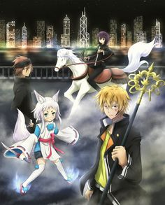 Tsuchimikado Harutora, Kon, Ato Touji, & Tsuchimikado Natsumefrom Tokyo Ravens. I think this is a pretty decent anime, but sadly overshadowed by other anime in this season... As you can s...