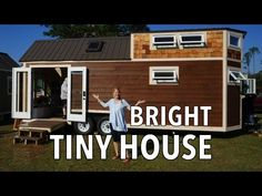 Tiny House with Mega Couch, Guest Room AND a Tub  - YouTube