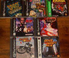 LOT of 7 PS1 Playstation 1 Games Crash Bandicoot Namco Tekken 2 & 3 GTA Space In #playstation1ps1