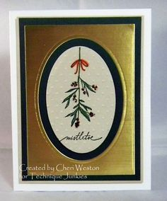 Mistletoe beauty from Technique Junkies Christmas Stamps.