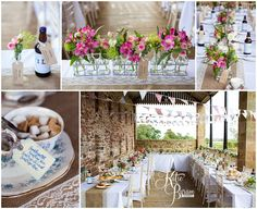 floral centerpieces, rustic wedding setup, high house farm brewery, healey barn, high house farm wedding, matfen wedding, matfen brewery, quirky wedding venue, northumberland, katie byram photography, hay bales wedding, bride and groom, farm wedding