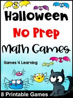 Love No Prep math? Then you will love these Halloween math activities! These cute Halloween creatures are sure to make a fun Halloween activty for your little monsters! There are games for addition, subtraction, multiplication and division. All with a Halloween theme and all great for Halloween math centers. Easy to differentiate - use them for second, third and fourth grades. Math Board Games, Math Games, Math Activities, Halloween Math, Halloween Themes, Math For Kids, Fun Math, Maths Display, Halloween Creatures