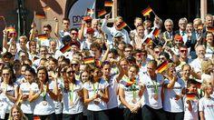 Empfang des Olympia-Teams in Frankfurt (Quelle: reuters)