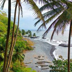 """Praia da Brita, São Tomé and Príncipe- one of my favorite views in são tomé, the beautiful pebble #beach of praia da brita on the west…"""" Brita, Wanderlust, Pebble Beach, Beautiful, Instagram, Water, Outdoor, Gripe Water, Outdoors"""