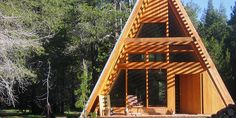 Modern A-frame Cabin near Yosemite - Tiny House Pins Home Design, Tiny House Design, A Frame House Plans, A Frame Cabin, Cabana, Steel Framing, Summer Cabins, Another A, Luxury Cabin
