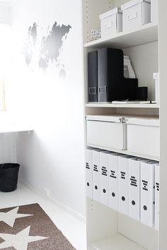 Getting organized - IKEA Billy Shelf and storage boxes