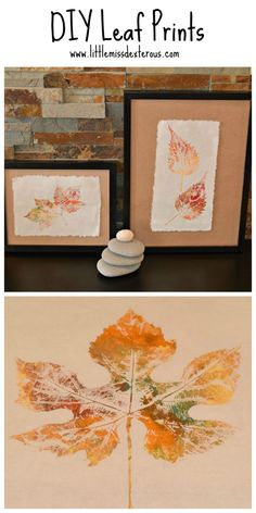 Bring nature indoors with these DIY Leaf Prints.  Create home decor that savours the autumn season.